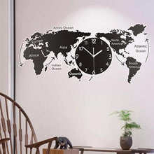 Load image into Gallery viewer, WORLD MAP CLOCK