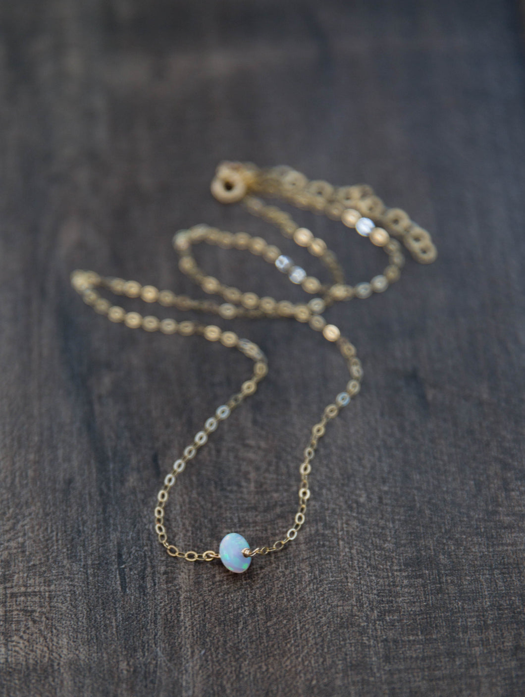 Single Opal Gemstone Necklace