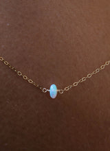 Load image into Gallery viewer, Single Opal Gemstone Necklace