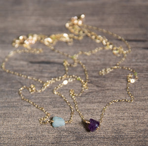 Raw Gemstone Necklace