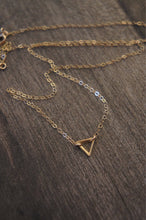 Load image into Gallery viewer, Divine power of the female triangle necklace