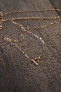 Divine power of the female triangle necklace