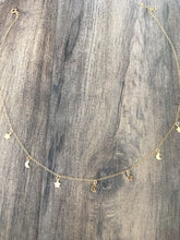 Load image into Gallery viewer, Star and crecent moon gold charm necklace