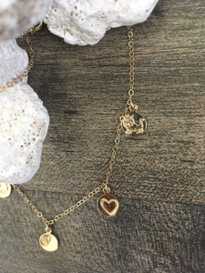 Why im vegan charm necklace