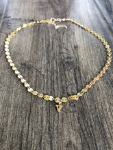Load image into Gallery viewer, Gold sequin choker