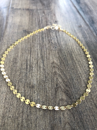 Gold sequin choker