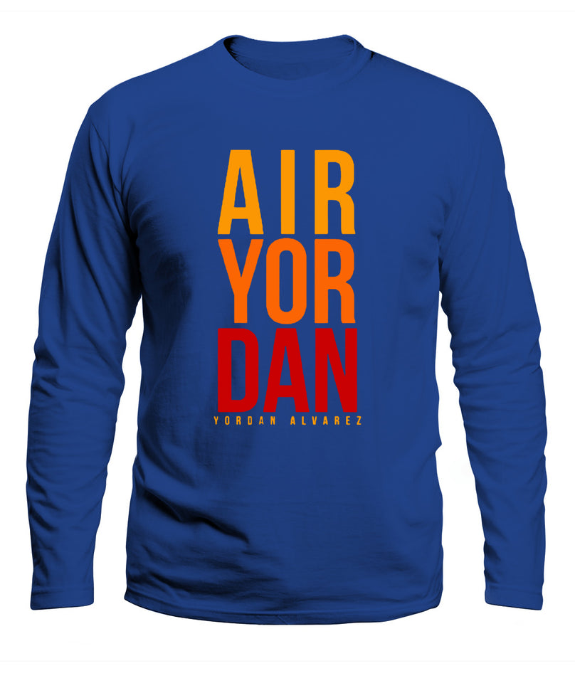 He's Air Yordan Shirt Yordan Alvarez - Houston Ast - Men's Long Sleeve