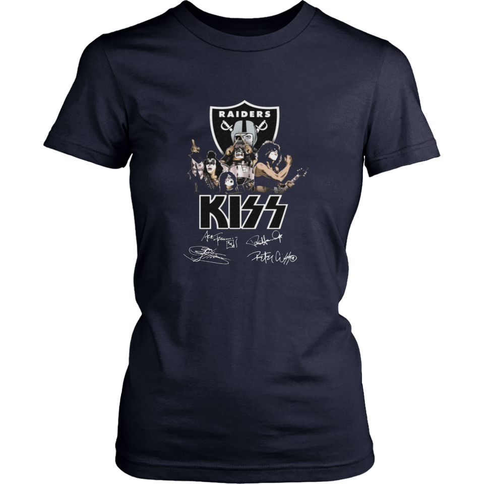 The Kiss Band With Raiders Team Shirt