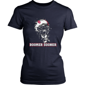 Oklahoma Sooners Rising Helmet T-Shirt - Officially Licensed Sports Apparel