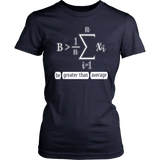 Be Greater Than Average - Funny Math Calculus Gift T-Shirt