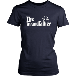 The Grandfather  Funny Father's Day Grandpa Godfather Spoof Unisex T-shirt Black