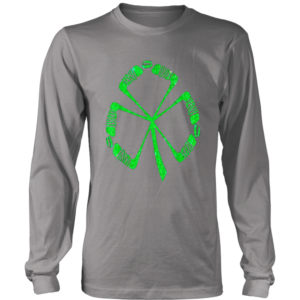 Hockey Shamrock Irish Sports St Patty's Patricks Day T-Shirt