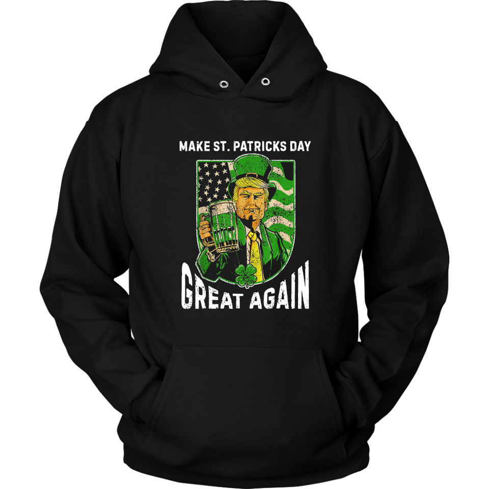 Make St Patrick Day Great Again Shirt Vintage Trump Drinking