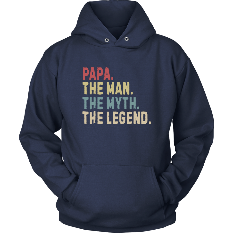Mens Papa Man Myth Legend Shirt For Mens Dad Father Grandpa