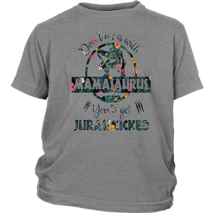 Don't Mess With Mamasaurus You'll Get JurassKicked shirts Floral mamasaurus t-shirts for mother day