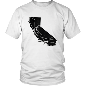 Distressed California State Map T-shirt