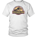 Make Drugs a Thing of the Past - Live Drug Free Shirt Red Ribbon Week - Funny Jurassic Park