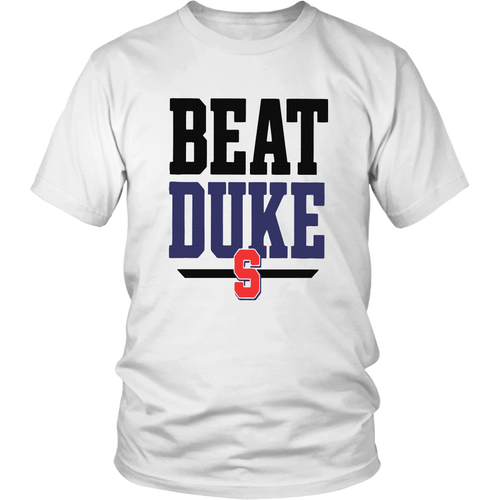 'Beat Duke' Slogan T-Shirt North Carolina Tar Heels