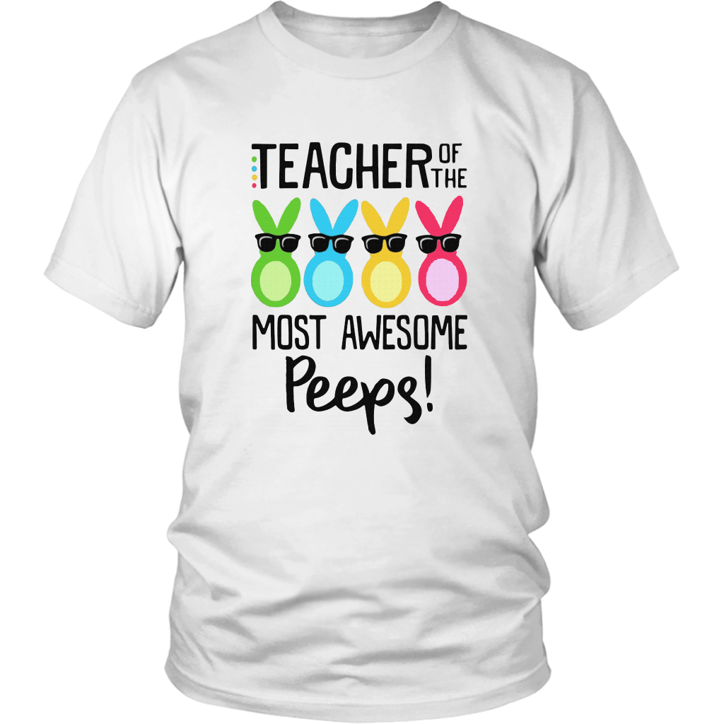 Rabbits Teacher Of The Most Awesome Peeps Shirt Funny Rabbit Egg Easter