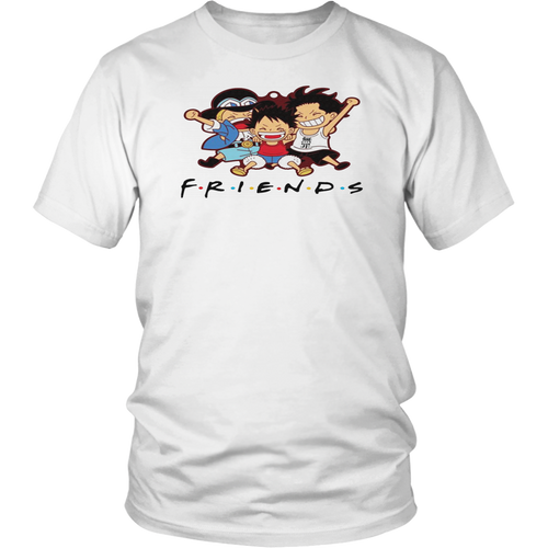 One Piece Characters Friends T Shirt