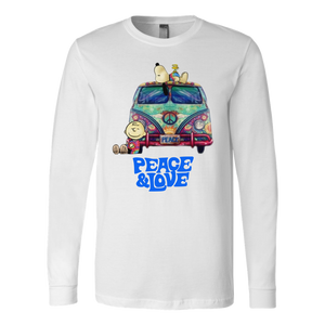 PEACE & LOVE SHIRT SNOOPY AND CHARLIE - Trippy Little Hippie