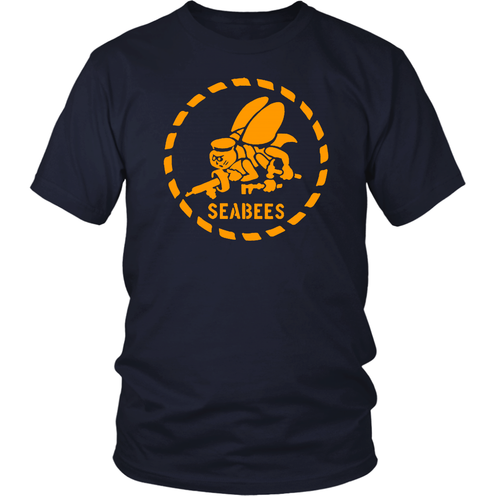 Us Navy Original Seabees Logo Navy Shirt