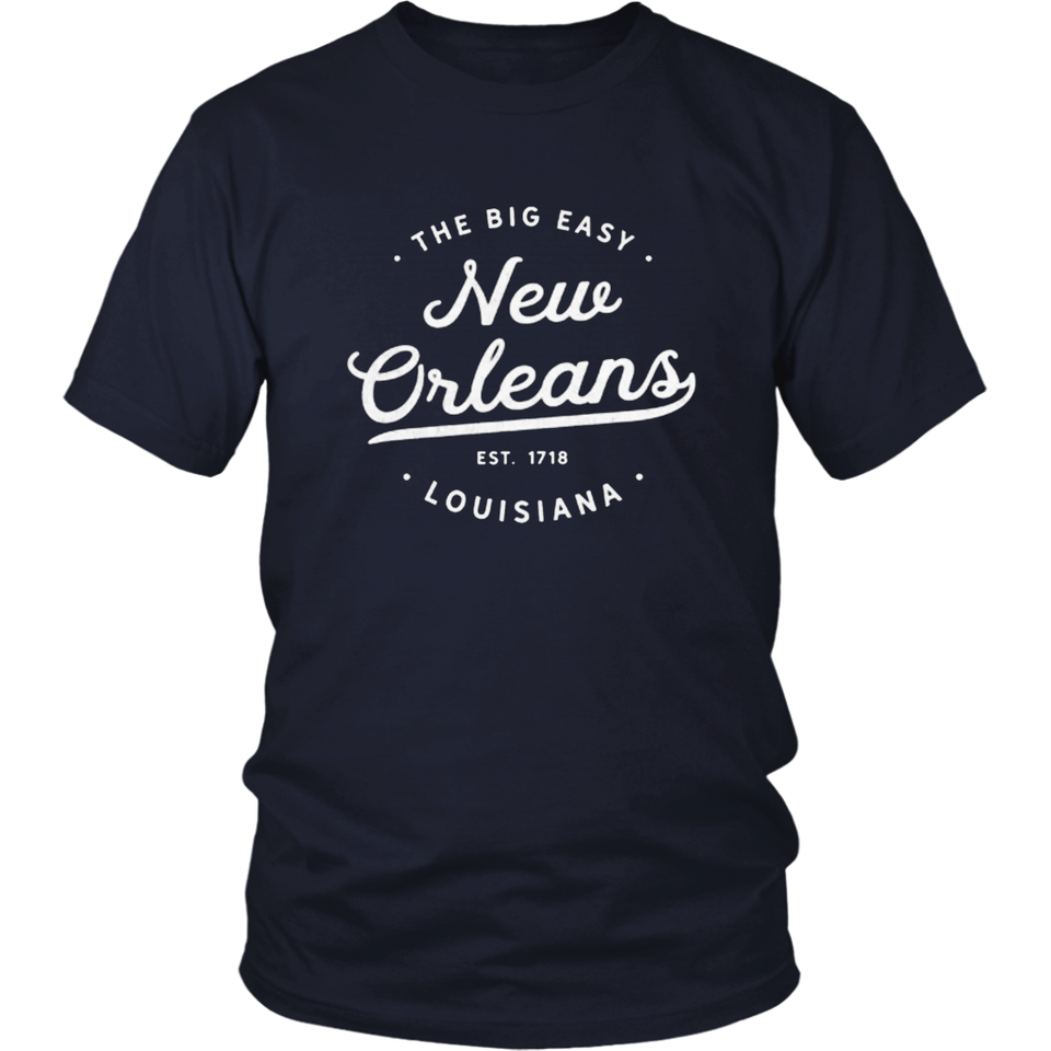 Classic Retro Vintage New Orleans Louisiana Big Easy Tshirt