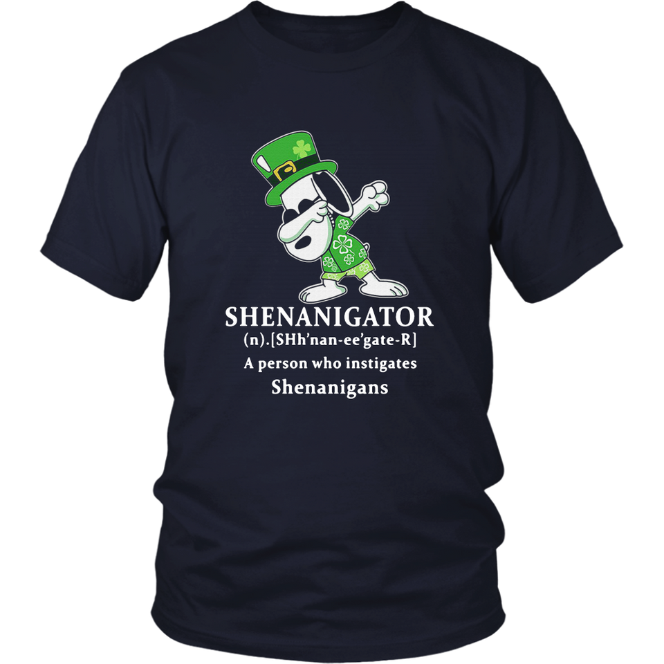 Snoopy Dabbing Shenganigator Definition Meaning A Person Who Instigates Shenanigans Shirt