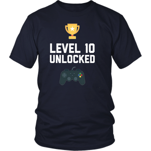 10th Birthday Shirt Gift 10 Year Old Level Up Gamer Tshirt-ah my shirt one gift