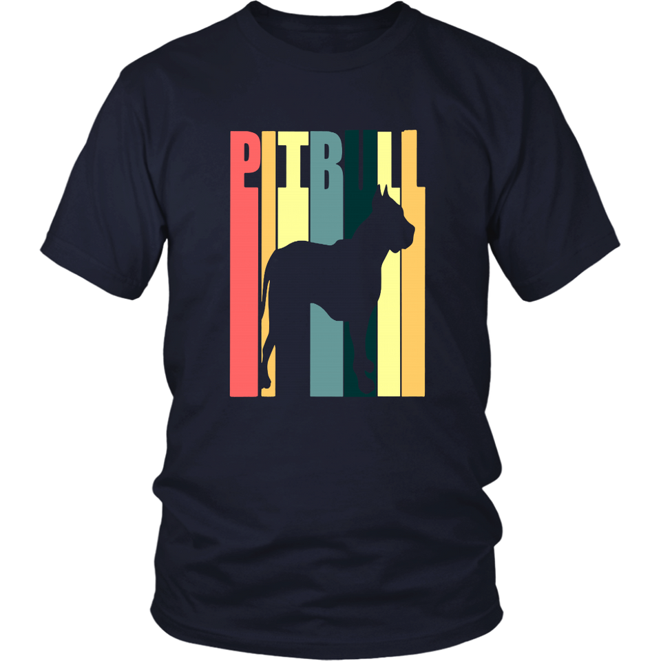 Pitbull Dog Vintage T-Shirt, Retro Vintage Pitbull Dog Shirt
