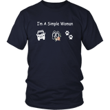Im Simple Woman Like Jeep Flip Flop Dog Paws Shirt