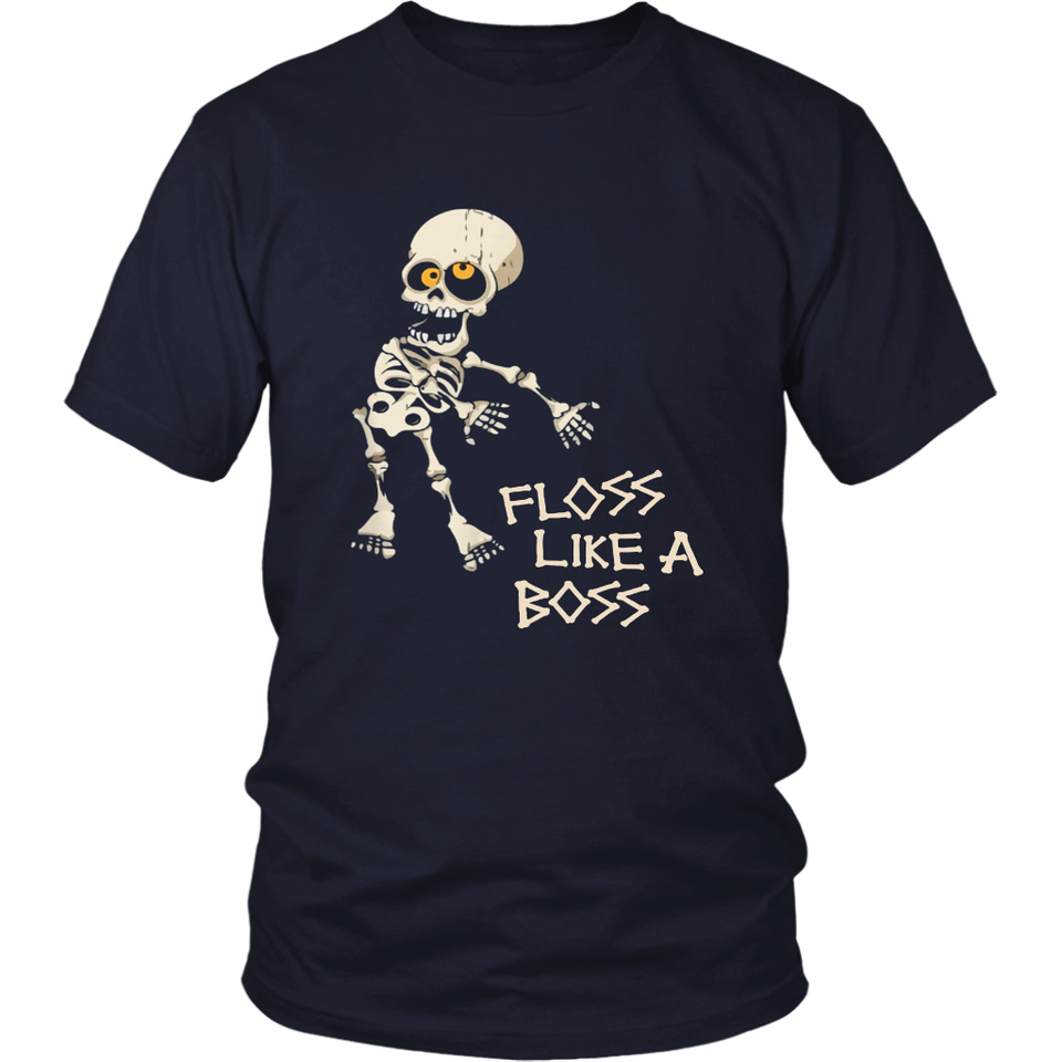 Unisex Men's Women's T Shirt Tee Skeleton Floss Dance