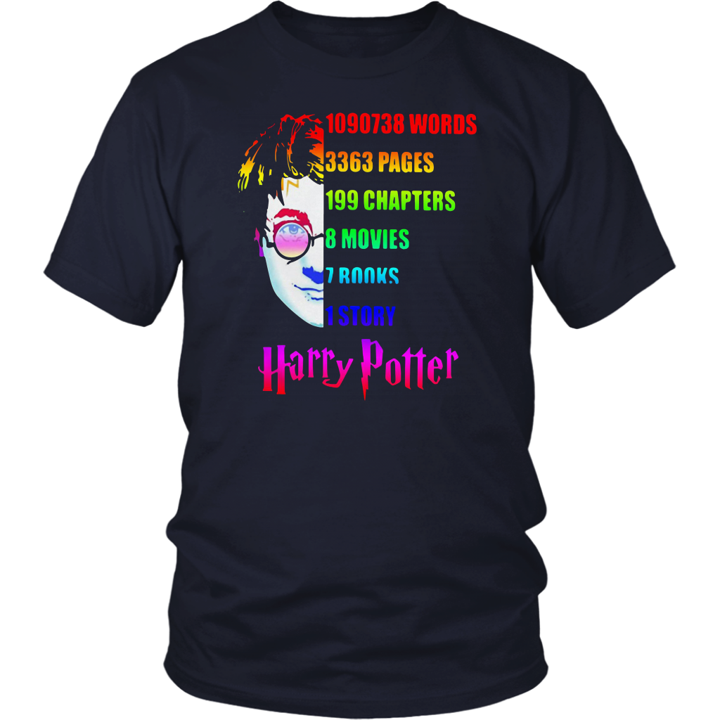 Harry Potter Facts Infographic lgbt pride 2019 Shirt SUPPORT LGBT