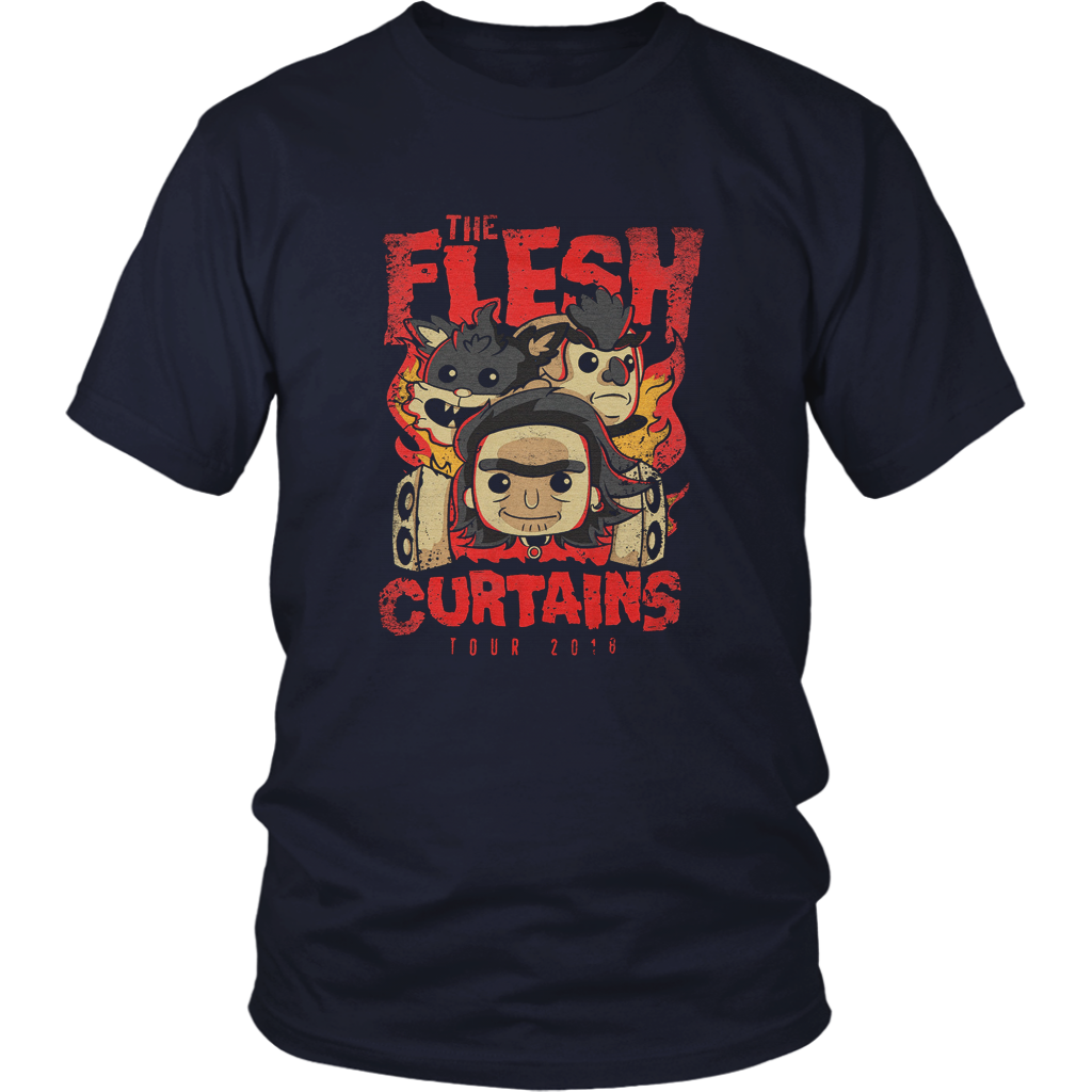 The Flesh Curtains Tour 2018 T-Shirt Rick and Morty