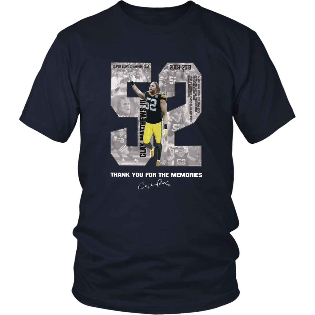 low priced 916c9 d3564 Clay Matthews III - THANK YOU FOR THE MEMORIES SHIRT SUPER BOWL CHAMPION  XLV - Green Bay Packers