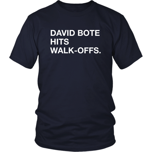 David Bote Hits Walk-Offs Shirt