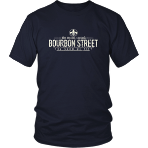 Bourbon Street tee New Orleans Louisiana Distressed T-Shirt