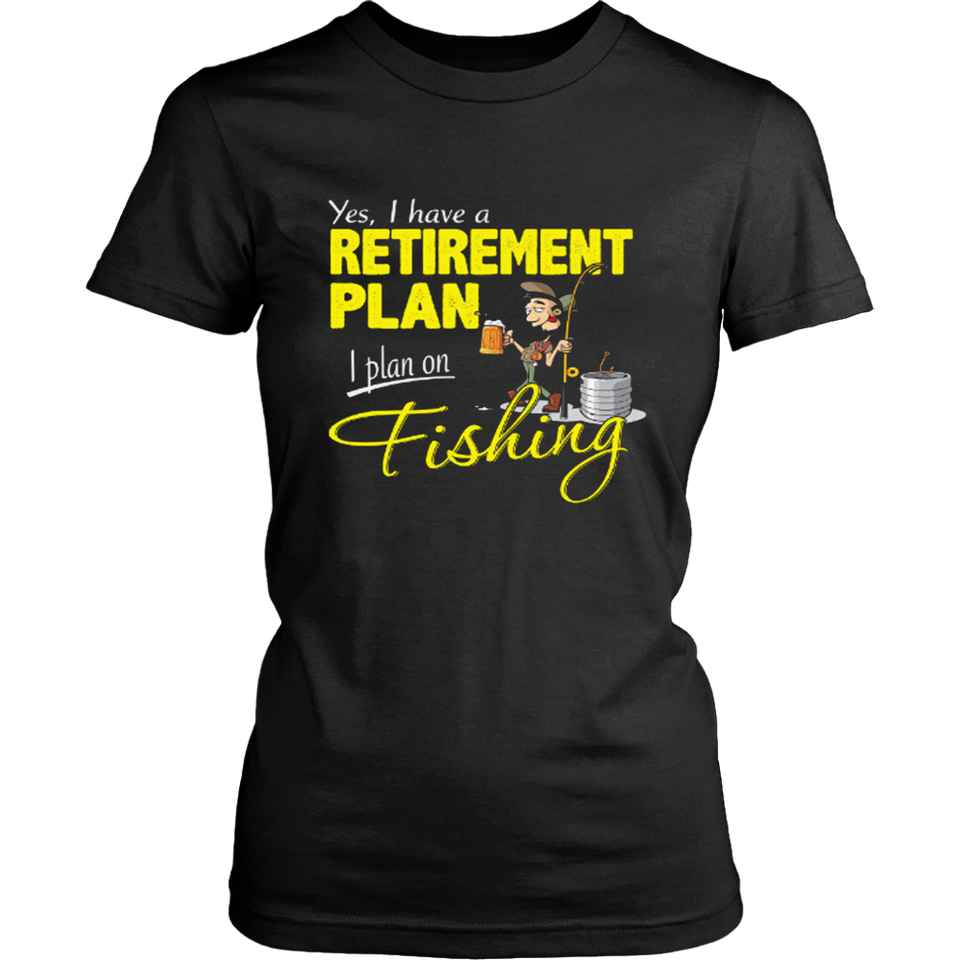 Fishing Retirement Plan Mens Funny Angling T-Shirt Fisherman Angler Fish Sea Rod