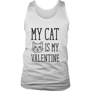 Womens My Cat is My Valentine Funny Crazy Cat Lady Valentines Day T Shirt