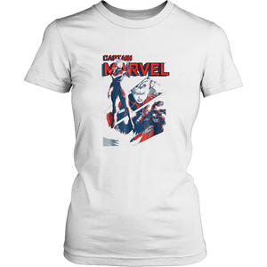 Captain Marvel Earth's Mightiest Hero Intro Graphic T-Shirt