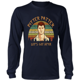 Pitter Patter Let's Get At'er Vintage Retro T-Shirt - V-Neck Shirt