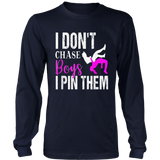 I Don't Chase Boys I Pin Them Shirt  Wrestling Girls TShirt
