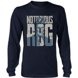 Notorious RBG Outline Long Sleeve Shirt