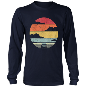 Retro Off Road 4X4 T Shirt. Vintage 70s Sunset Car Shirt.