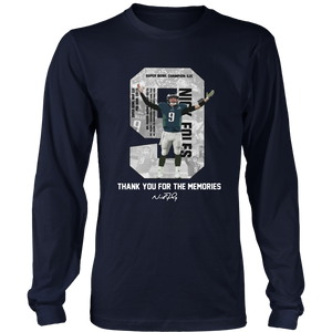 Nick Foles Eagles Thank You For The Memories Signature Shirt Philadelphia Eagles