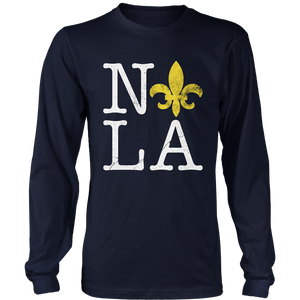 NOLA New Orleans Love Mardi Gras Men Women T-Shirt