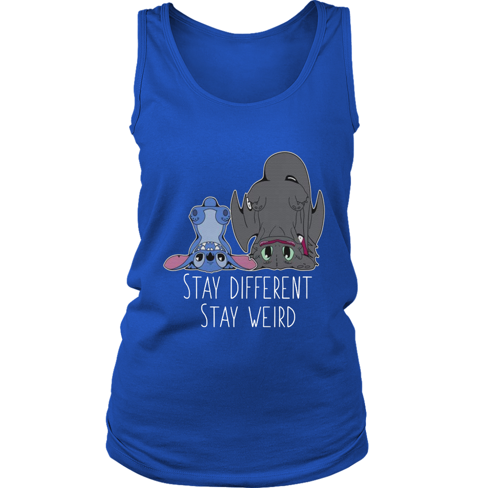 Stay Different Stay Weird Stitch and Night Fury T-Shirt