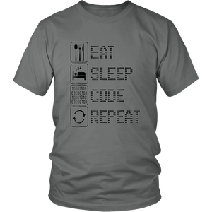 Eat Sleep Code Repeat T-Shirt Programmer Tshirt Ninja Tee