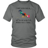 I May Look Calm By In My Head I've Peacked You 3 Times - Funny Chicken Picker Christmas Shirt Funny Shirt