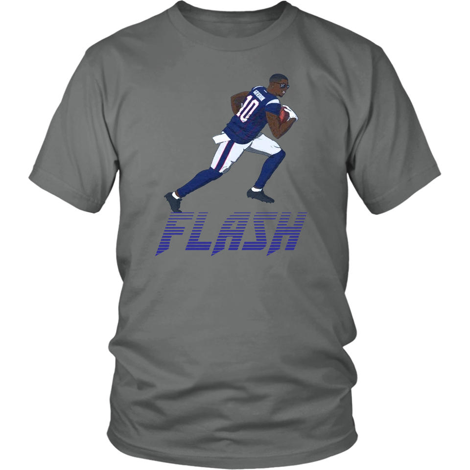 best service cfbe8 12ed6 FLASH SHIRT Josh Gordon - New England Patriots – Tee Cream
